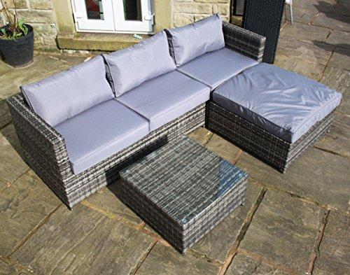 Rattan-Outdoor-4-Seat-Corner-Sofa-Patio-Garden-Furniture-in-Grey