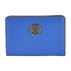 Tory Burch Robinson Foldable Card Case Windsor Blue Luggage