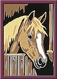 Ravensburger Malen nach Zahlen 29685 - Pferd im Stall, Malset hergestellt von Ravensburger Spieleverlag