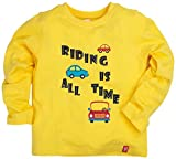 Oye Boys Full Sleeves Tee with Chest Print - Empire Yellow (3-4Y)