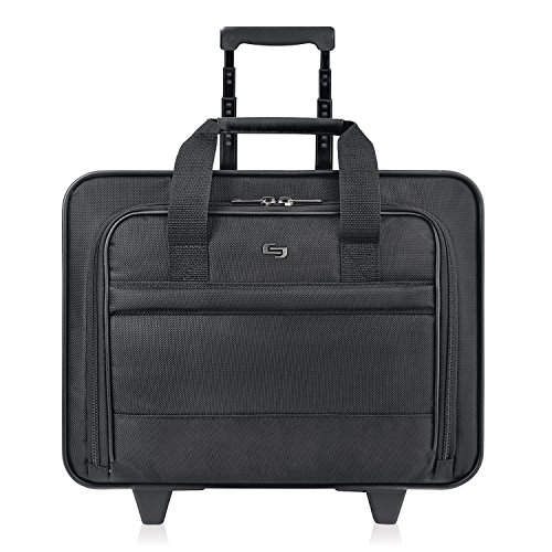"Solo Rolling Notebook Portfolio - Top-loading - 14"" x 16.5"" x 10"" - Ballistic Nylon - Black B1004"