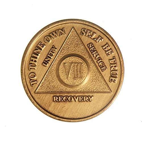 8 Year Bronze AA (Alcoholics Anonymous) - Sobriety / Birthday / Anniversary / Recovery / Medallion / Coin / Chip