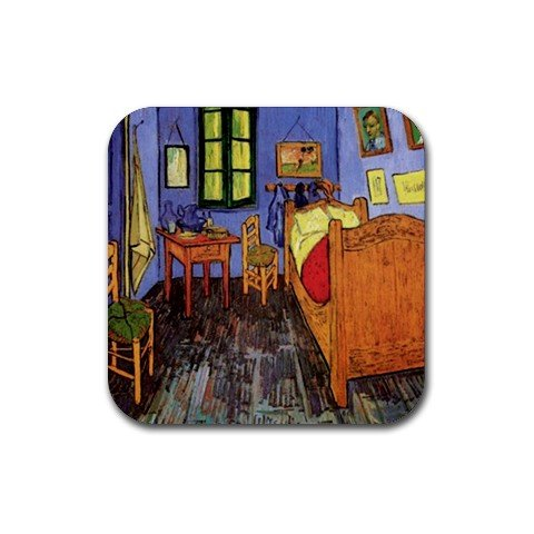 Vincent'S Bedroom In Arles By Vincent Van Gogh Square Coasters front-345372