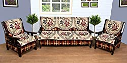 WOW Polycotton 5 Seater Sofa Cover - sc008, Multi Color