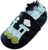 Weichleder Baby Jungen Kleinkind Schuhe für Kinder Hausschuhe Carozoo Train