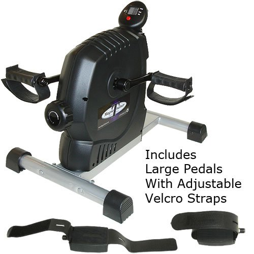 MagneTrainer ER Mini Exercise Bike - Includes Large Pedals with Velcro Straps