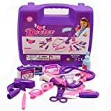 Queen star Blue Pink Doctor Medical Kit Playset for Kids  Fun Pretend Play Tools Toy Set (Pink girl play)