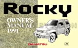 1991 Daihatsu Rocky Reprint Owner's Manual
