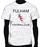 Fulham Basic Logo Soccer Tee, Adult X-Large - Ash Grey