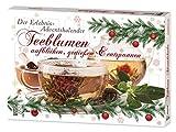 Teeblumen Adventskalender XXL mit 24 unterschiedlichen Teerosen und Teeblüten zum