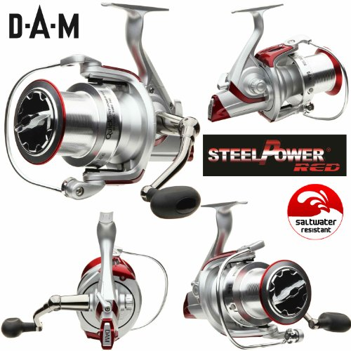 DAM Quick Steelpower Red - Distance Surf 765 FD - Frontdrag Surfcasting Reel