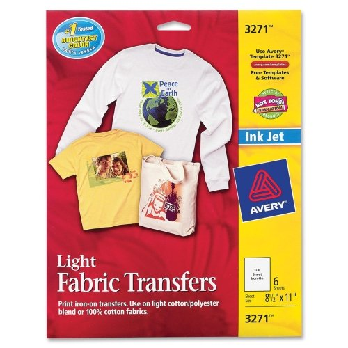 Avery 03271 8-1/2″ X 11″ Ink Jet Light T-Shirt Transfers 6 Count