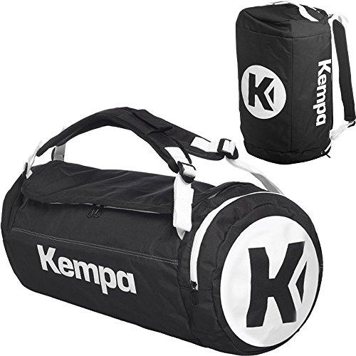 Kempa Borsa sportiva con funzione zaino con rete da pallone Nero/Blu 54x 28x 28cm, 40L, nero