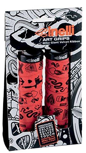 cinelli-mike-giant-art-grips-70700000-mango-para-manillar-de-bicicleta-2-unidades-rojo-rojo-rojo-tal