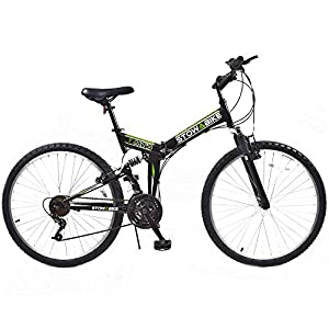 "Stowabike 26"" MTB V2 Folding Dual Suspension 18 Speed Gears Mountain Bike Black from Stowabike"