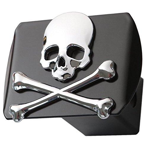 Metal Skull 3d Crossbones Chrome Emblem Trailer Metal Hitch Cover Fits 2