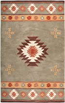 Hot Sale Rizzy Home SU2008 Southwest 8-Feet by 10-Feet Area Rug, Green