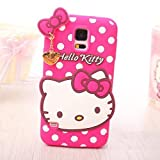 Go Crazzy Hello Kitty Back Case For Samsung Galaxy S5 I 9600 (HOT PINK)