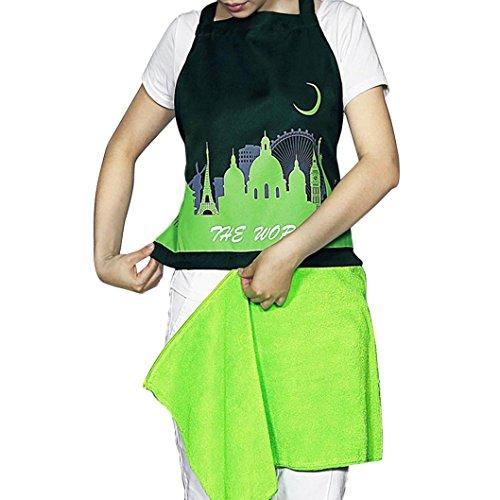 [Koolee Cleanlily Detachable Kitchen Towel Apron Ultrafine Fiber Adjustable Ties Women Apron 75.5 X 61.5cm(L X] (Easy Diy Plus Size Halloween Costumes)