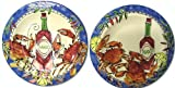 Home ETC Seafood Buffet Tabasco Charger Plates, Set of 4