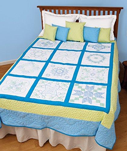 Classic Cross-Stitch Sampler Quilt (Cross Stitch Quilt Blocks compare prices)