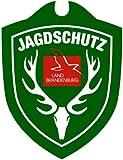 Autoschild Jagdschutz Bundesländer / Hubertushirsch