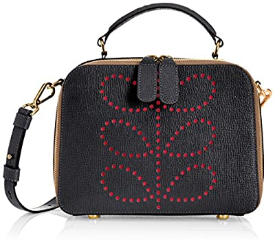 Orla Kiely Textured Leather Mini Bay Bag by Orla Kiely