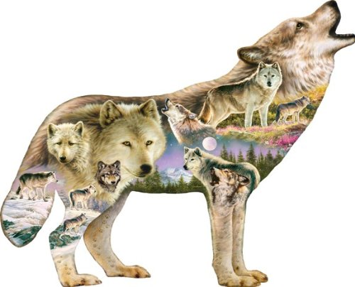 Wolf Connections - 350 Piece Shaped Puzzle