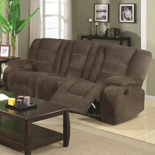 Coaster Home Furnishings Casual Motion Sofa, Brown Siege front-879433