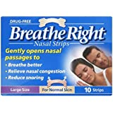 Breathe Right Nasal Srips - 10 Pack - Natural - Large