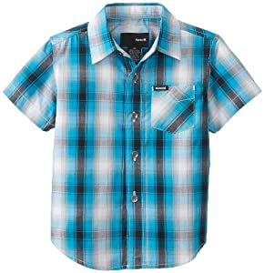 Hurley Boys 2-7 Dalton Short Sleeve Woven Shirt Blue Toddler by Hurley