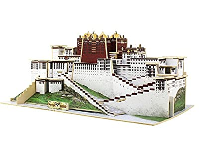 Jerold DIY the Potala Palace Model Simulation Architectures 3D Puzzle Games White