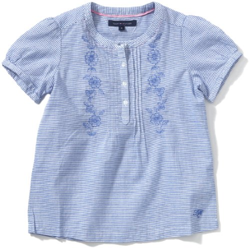 Tommy Hilfiger Girls Blouse Age 6 Indian Blue