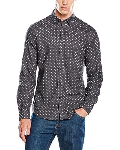 Ben Sherman Camisa Hombre Ls Umbrella Print Marl Antracita