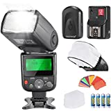 Neewer® PRO NW670 E-TTL Photo Flash Kit for CANON Rebel T5i T4i T3i T3 T2i T1i XSi XTi SL1, EOS 700D 650D 600D 1100D 550D 500D 450D 400D 100D 300D 60D 70D DSLR Cameras, Canon EOS M Compact Cameras,Include:(1)NW670 ETTL Flash For Canon+(1)Universal Mini Flash Bounce Diffuser Cap+(1)35-piece Color Gel Filters+(1)Flash Diffuser+(1)16 Channels Wireless Remote Flash Trigger+(4)LR Battery