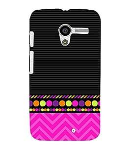 Colorful Zig Zag Design 3D Hard Polycarbonate Designer Back Case Cover for Motorola Moto X XT1058 :: Motorola Moto X (1st Gen)