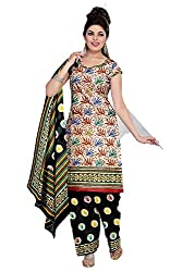 Riddhi Dresses Women's Cotton Unstitched Dress Material (Riddhi Dresses 106_Multi Coloured_Free Size)