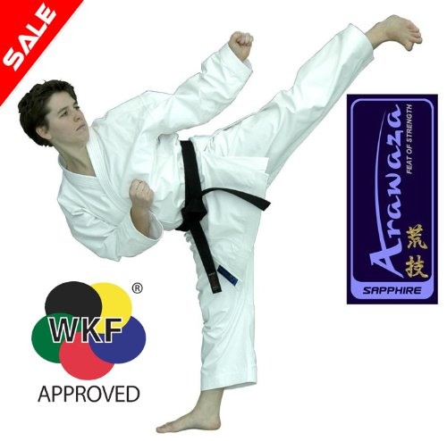 Arawaza Saphire WKF karate Uniform 12oz Brushed Cotton (210cm)