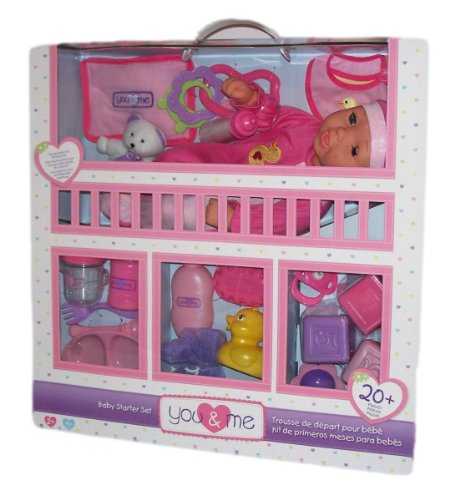 You & Me 14 Inch Baby Doll Starter Kit- Caucasian front-1049455
