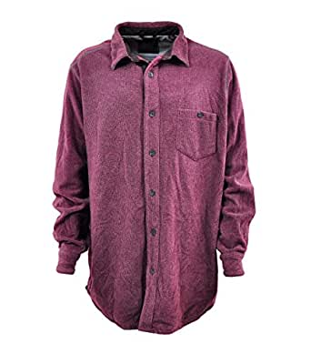 Amazon.com: Tasso Elba Mens Fleece Long Sleeve Button Down