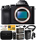 Sony a7R Full-Frame 36.4 MP Mirrorless Interchangeable Digital Lens Camera - Body Only (ILCE7R) with Must Have Accessories Bundle Kit includes includes x2 Replacement (1200mAh) NP-FW50 Battery + Hard Shell Carrying Case + Home Wall Charger with Car and European Adapter + Wireless Shutter Release Remote + HDMI Cable + Camera Lens Cleaning Kit + Bonus $50 Gift Card for Digital Prints