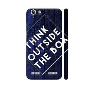 Colorpur Think Outside The Box Blue Artwork On Lenovo Vibe K5 / K5 Plus Cover (Designer Mobile Back Case) | Artist: Abhinav