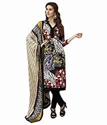 Sinina Women's Crepe Semi Stitched Dress Material (123Tangy6408B_Multi-Coloured_Free Size)