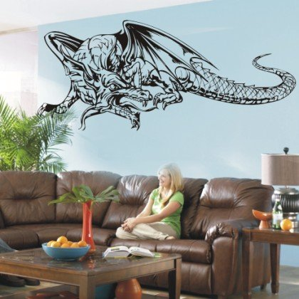 PEMA wall sticker w452 dragon china skit skelett wallprint