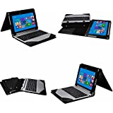 Acer Aspire Switch 10 E Case,Mama Mouth Leather Keyboard Portfolio Stand Case Cover For Acer Aspire Switch 10...