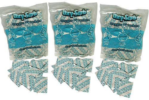 Oxy-Sorb 3x 10-Packs (30 total) Oxygen Absorber, 2000cc - 1