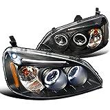 Spec-D Tuning 2LHP-CV01JM-TM Honda Civic Dual Halo Led Black Projector Head Lights