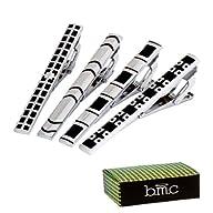 BMC 4pc Set Mens Metal Alloy Silver a…