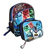 Justice League Backpack w/ Bonus Detachable Utility Case Warner Bros Dc Comics