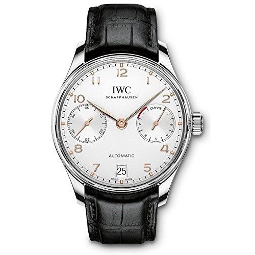 iwc-portugieser-reloj-de-hombre-automatico-correa-de-cuero-dial-plata-iw500704